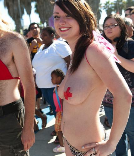 National Go Topless Day  Venice Paparazzi  Venice Beach -7353