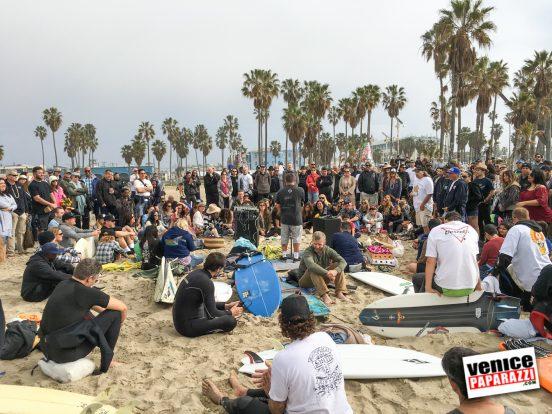 02.13.16 Brian Zarate's Paddle Out & Memorial. Venice, California. Photo by VenicePaparazzi.com