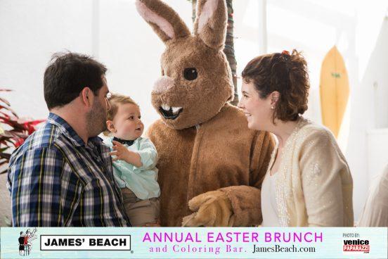Annual Easter Brunch & Coloring Bar at James' Beach. www.JamesBeach.com. Photo credit: www.VenicePapaparazzi.com