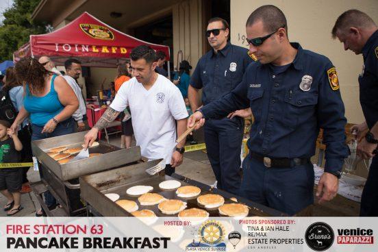 Fire Station 63 Pancake Breakfast. Hosted by Rotary Club of Playa Venice Sunrise. Photo by VenicePaparazzi.com