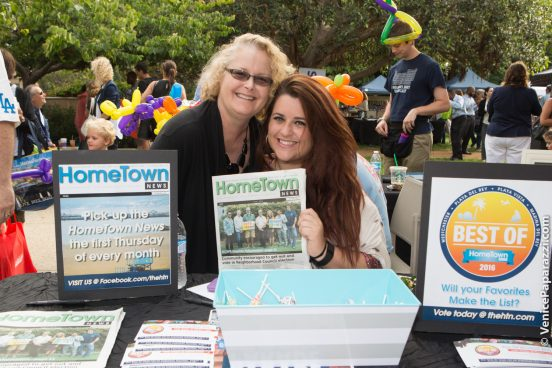 Tony P's Dockside Grill's Lauren Palermo with Hometown News' Nicolette Palermo