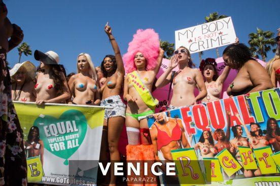 Go Topless Venice Beach. Photo by www.VenicePaparazzi.com