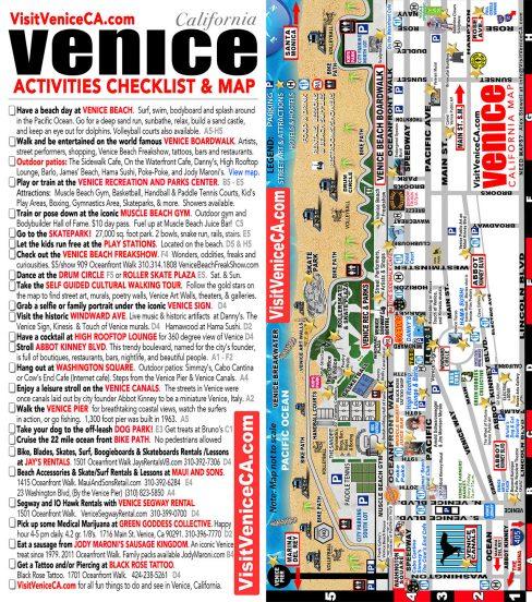 Venice California Checklist and Map