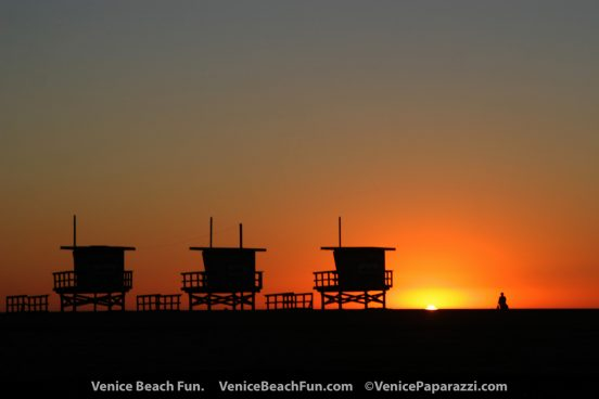 Venice Beach Sunset. Venice, California Photo by www.VenicePaparazzi.com